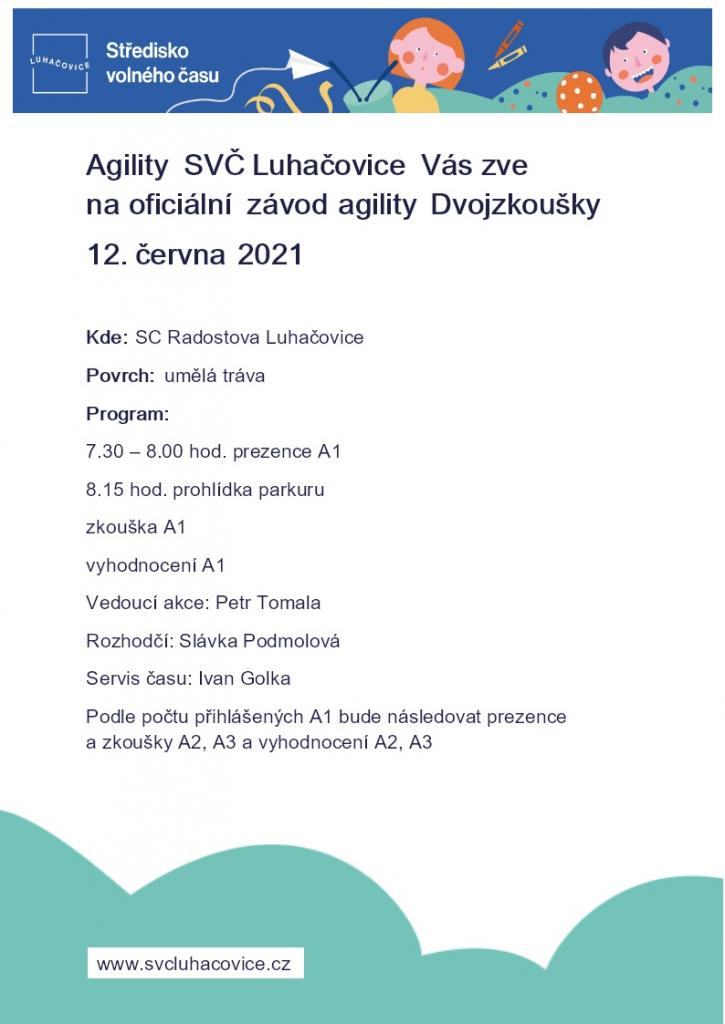 Dvojzkoušky - oficiální závod agility