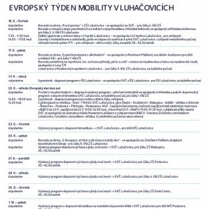 Evropský týden mobility v Luhačovicích